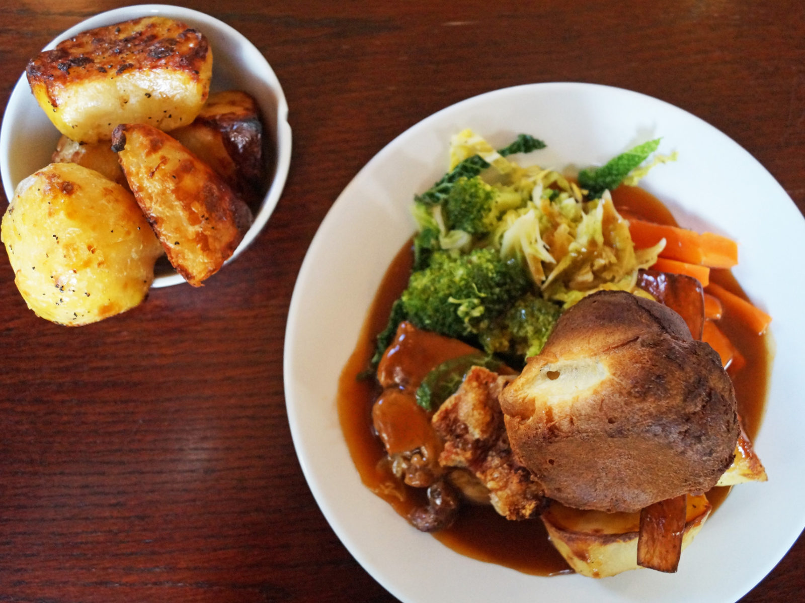 Our Beef Roast with roast potatoes